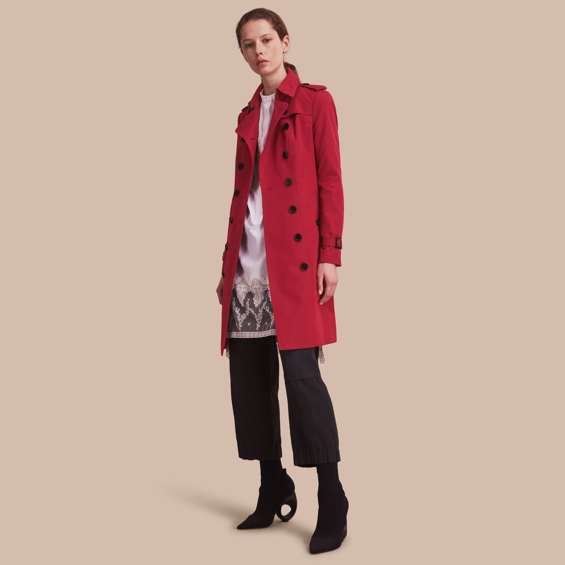 Parade red The Sandringham  – Long Heritage Trench Coat - gallery image 1