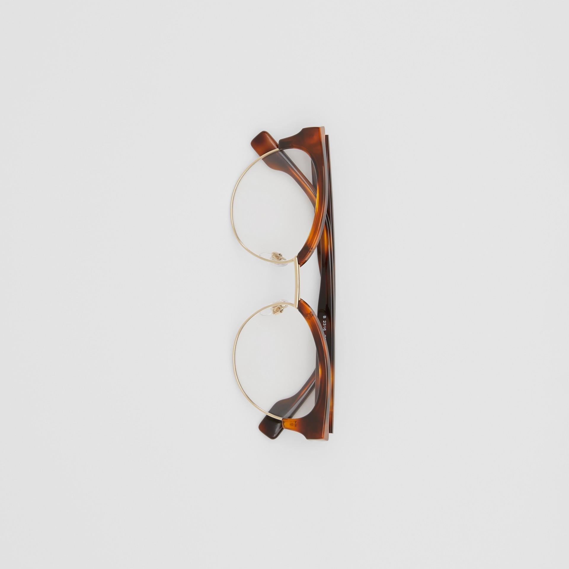 Cat-eye Optical Frames in Tortoise Amber - Women | Burberry - gallery image 3
