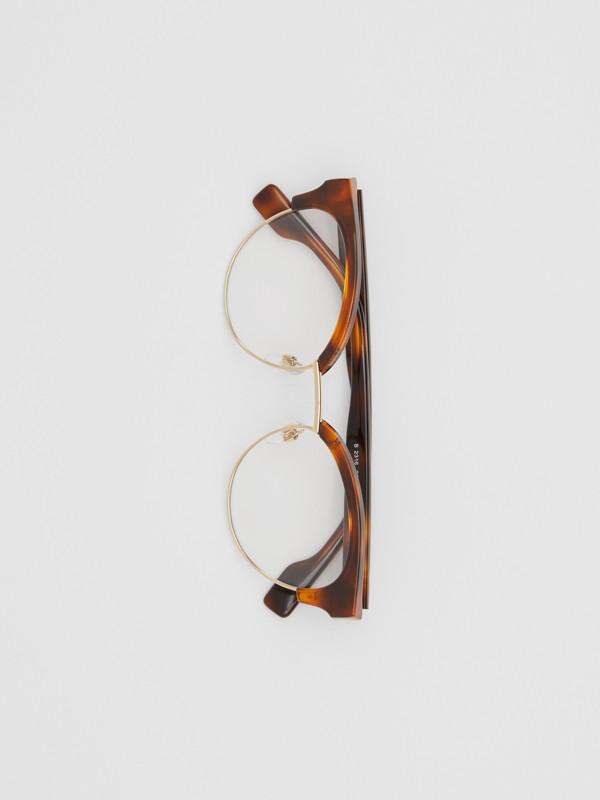 Cat-eye Optical Frames in Tortoise Amber - Women | Burberry - cell image 3