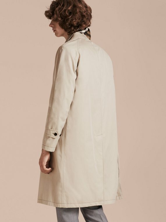 Stone Long Cotton Gabardine Car Coat - cell image 2