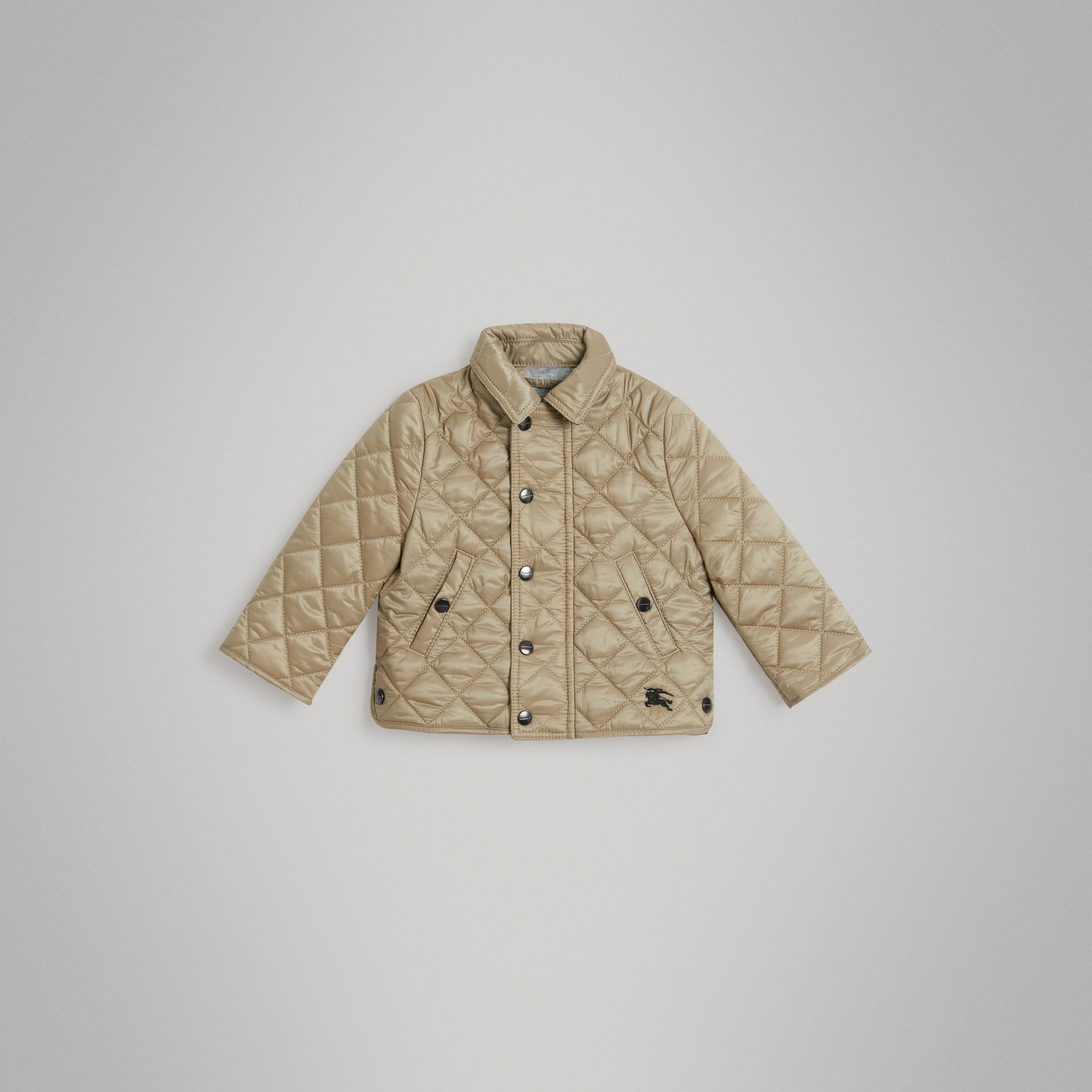 Lightweight Diamond Quilted Jacket in Mink | Burberry United Kingdom - gallery image 0