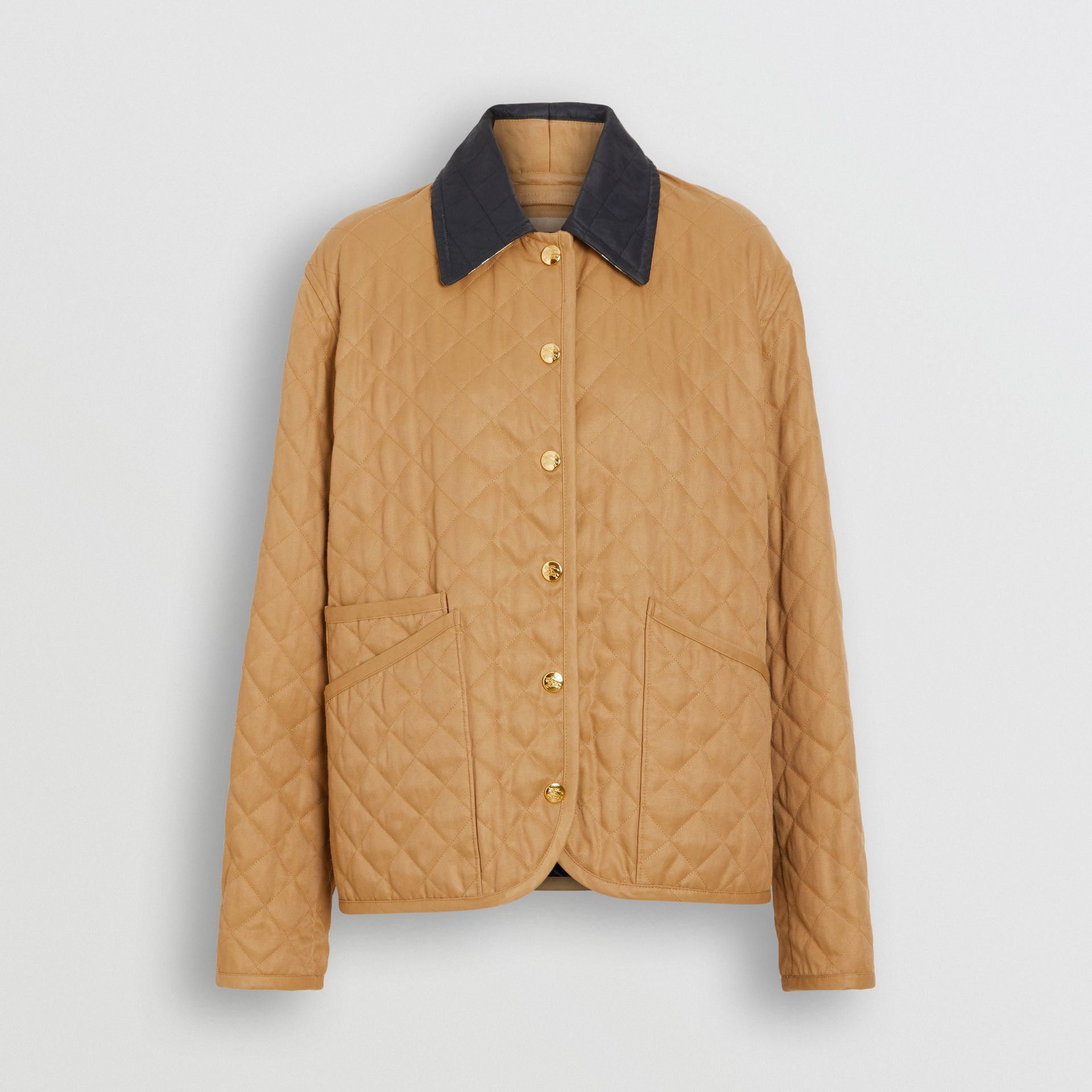 Diamond Quilted Barn Jacket in Camel - Women | Burberry - gallery image 3