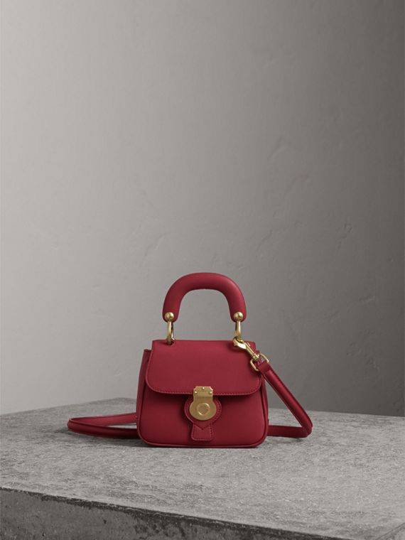 The Mini DK88 Top Handle Bag in Antique Red - Women | Burberry