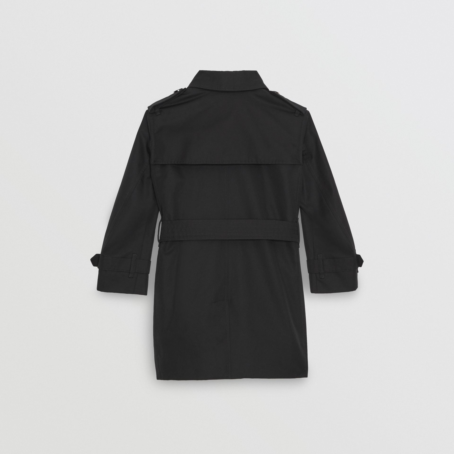 Cotton Gabardine Trench Coat in Black | Burberry - gallery image 4