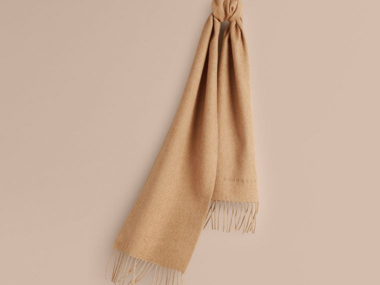 The Mini Classic Cashmere Scarf in Camel | Burberry - cell image 4