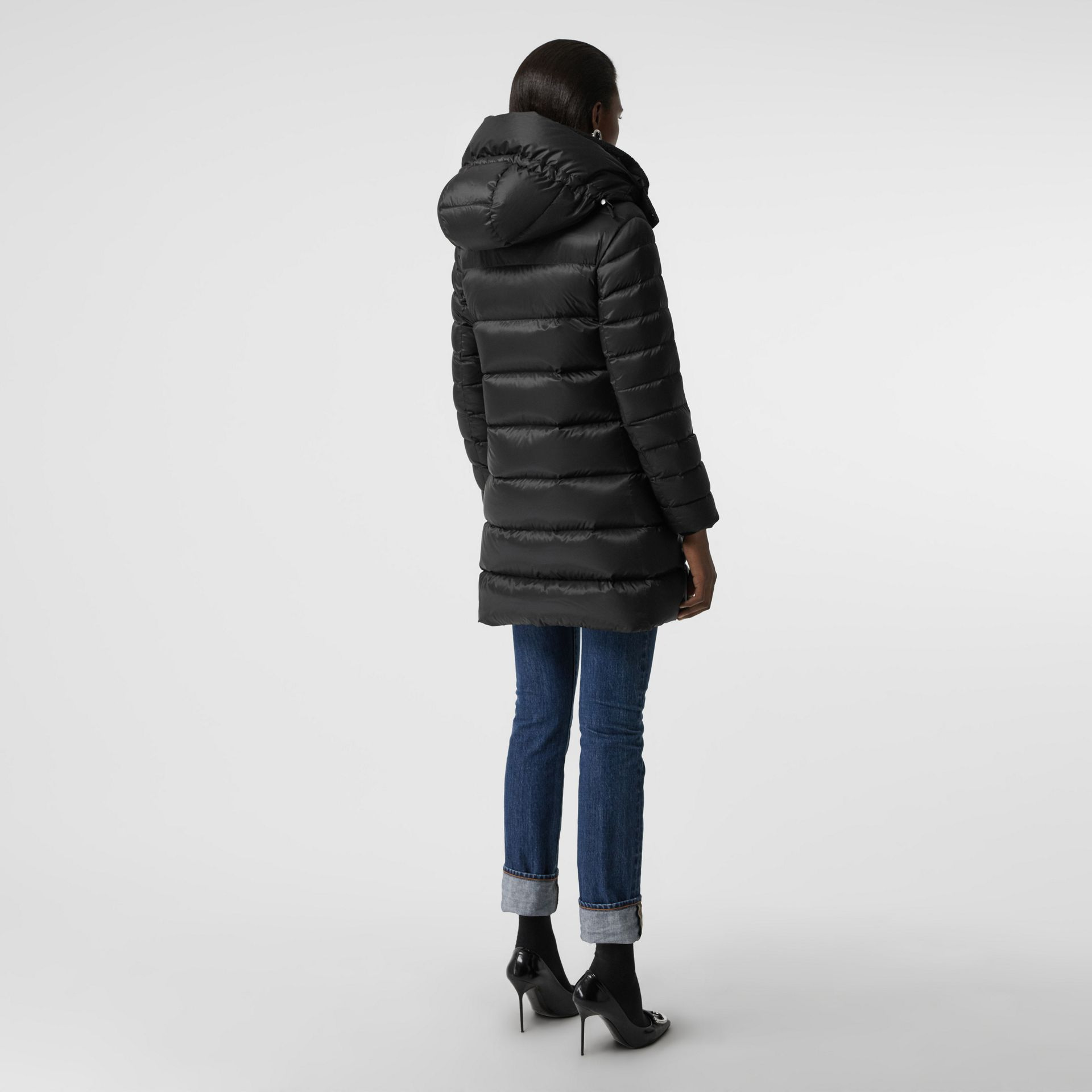 Down-filled Hooded Puffer Coat in Black - Women | Burberry Canada - gallery image 2