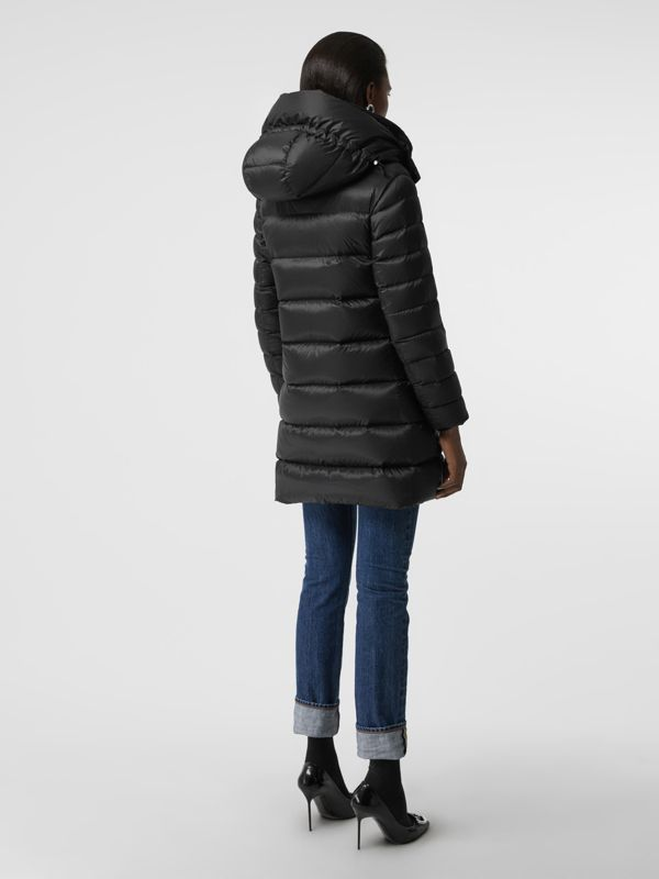 Down-filled Hooded Puffer Coat in Black - Women | Burberry Singapore - cell image 2