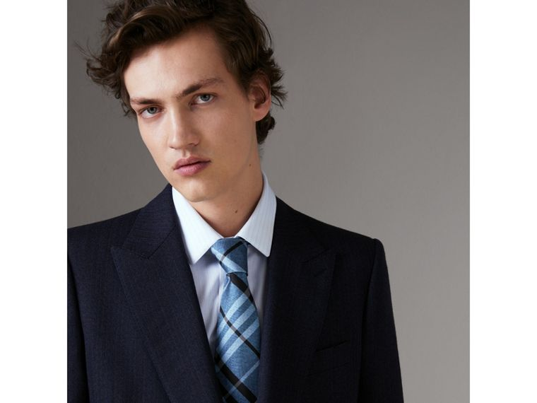 Classic Cut Check Silk Tie in Steel Blue - Men | Burberry United States - cell image 2