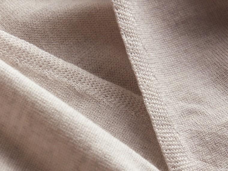 Merino Wool Silk Open Cardigan Light Grey Melange - cell image 1