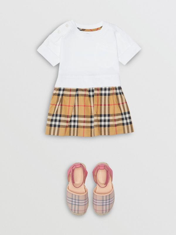 Vintage Check Cotton Dress with Bloomers in White - Children | Burberry Hong Kong - cell image 2