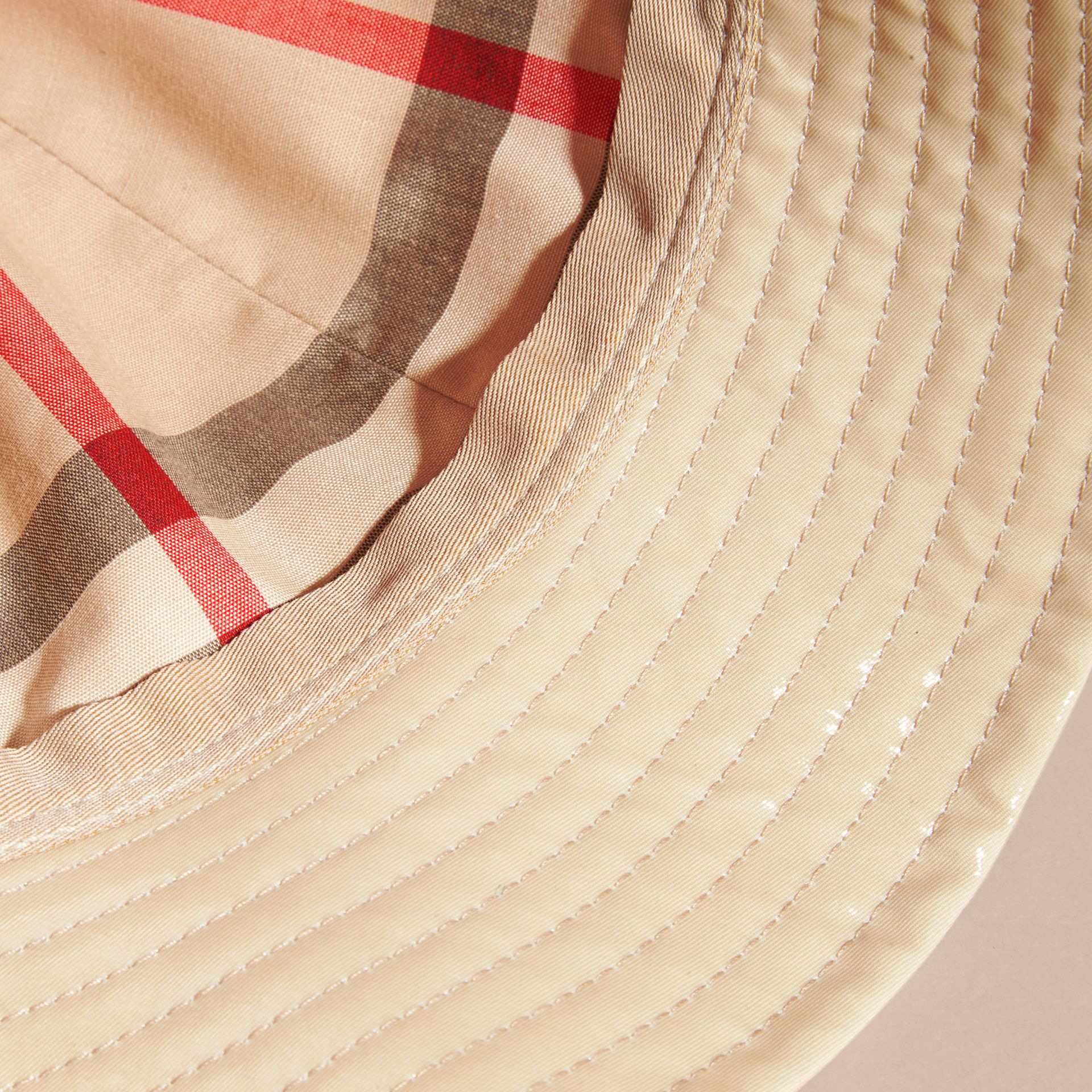 Stone Coated Cotton Gabardine Bucket Hat - gallery image 2