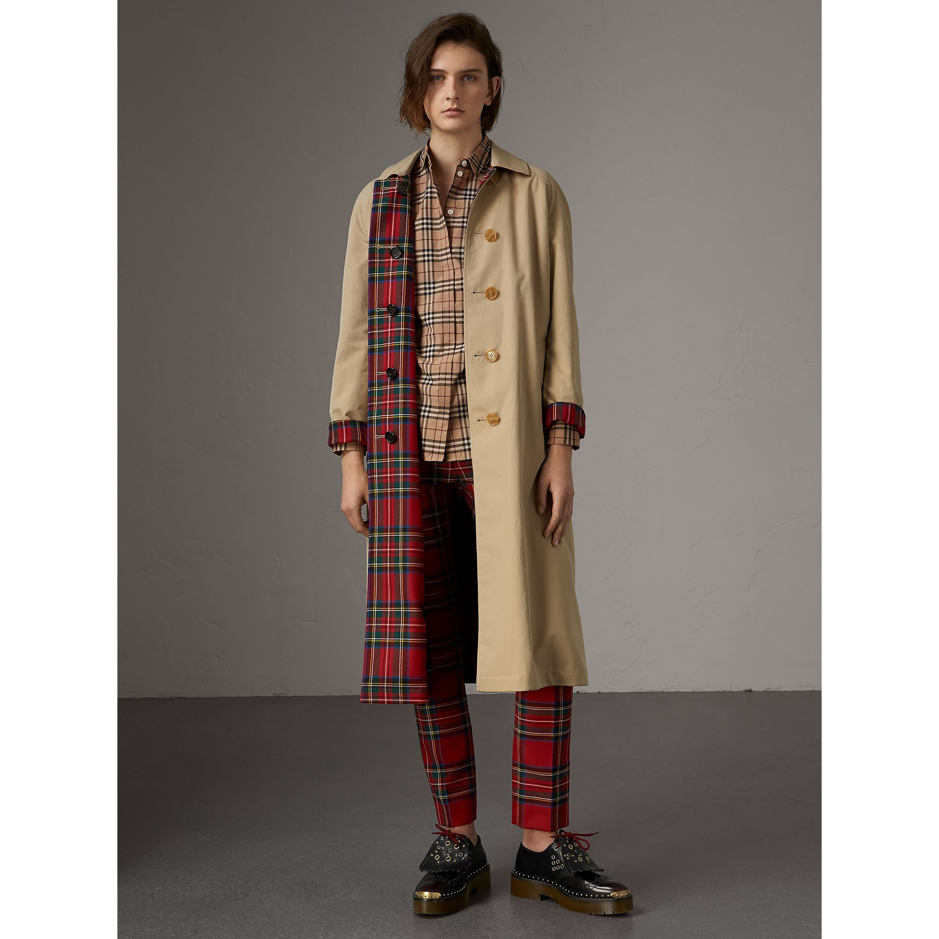 Vintage Check Cotton Shirt in Camel - Women | Burberry - gallery image 5