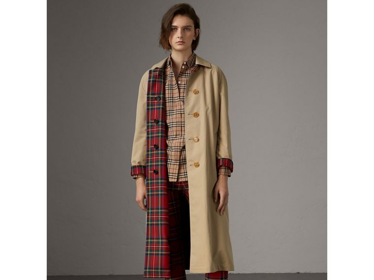 Check Cotton Shirt in Camel - Women | Burberry Australia - cell image 4