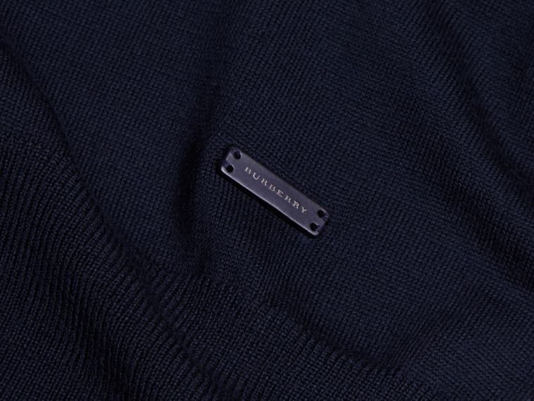 Navy Merino Wool Roll-neck Sweater Navy - cell image 1