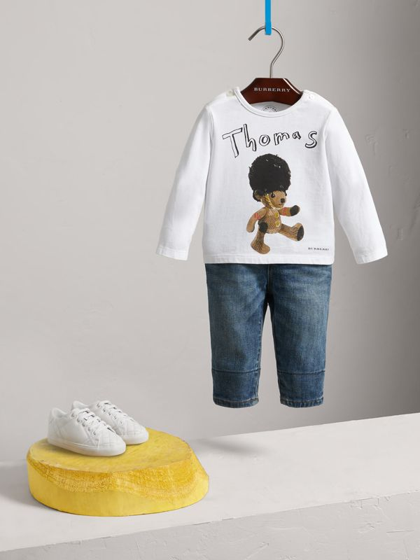Thomas Bear Guardsman Print Cotton Top in White - Children | Burberry United Kingdom - cell image 2