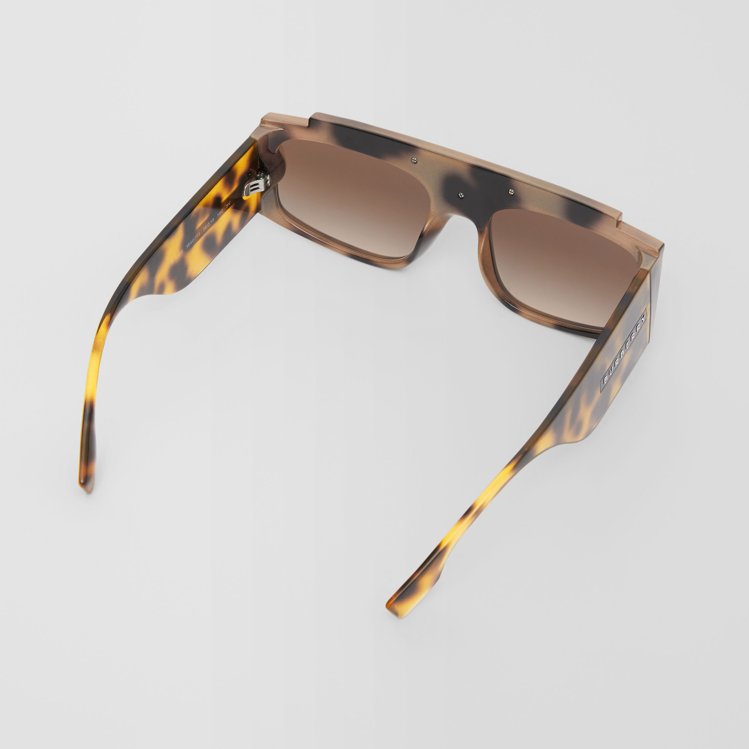 Rectangular Frame Sunglasses in Tortoiseshell - Women | Burberry - 4
