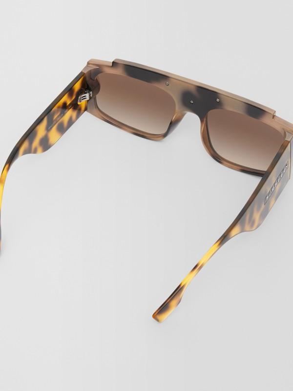Rectangular Frame Sunglasses in Tortoiseshell - Women | Burberry - cell image 3