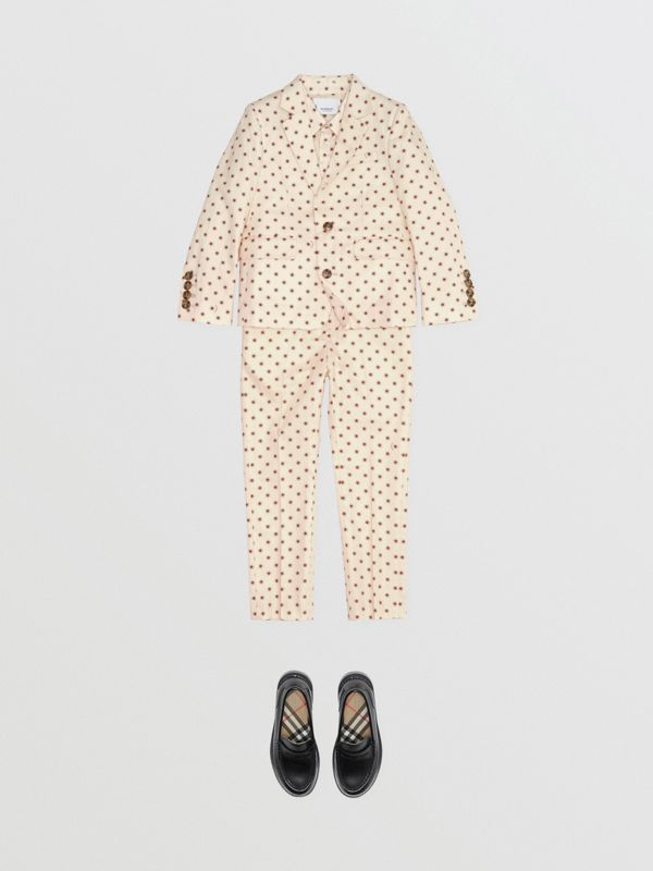 Star Print Cotton Blazer in Military Red | Burberry United Kingdom - cell image 2