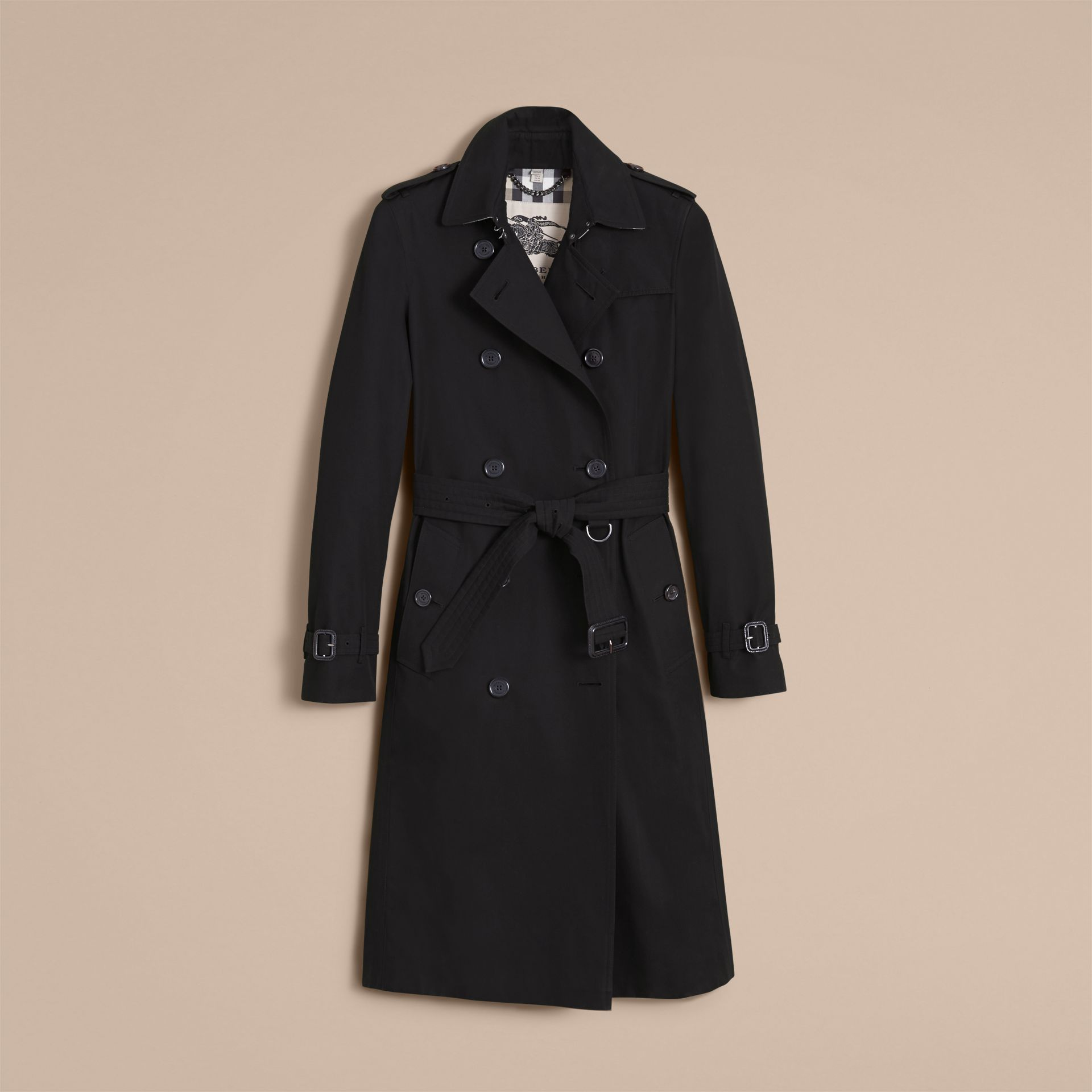 The Kensington – Extra-long Heritage Trench Coat in Black - gallery image 4