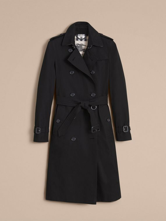The Kensington – Extra-long Heritage Trench Coat in Black - Women | Burberry - cell image 3