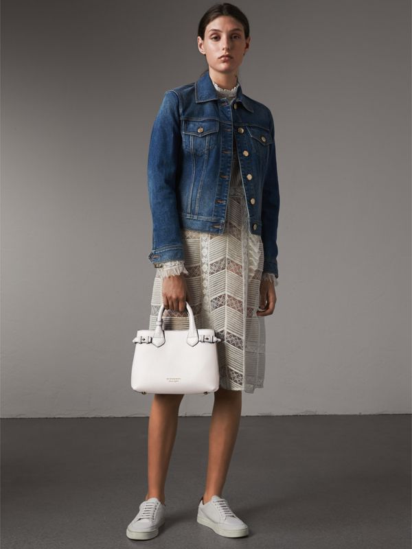 The Small Banner in Leather and House Check in Natural - Women | Burberry United Kingdom - cell image 2