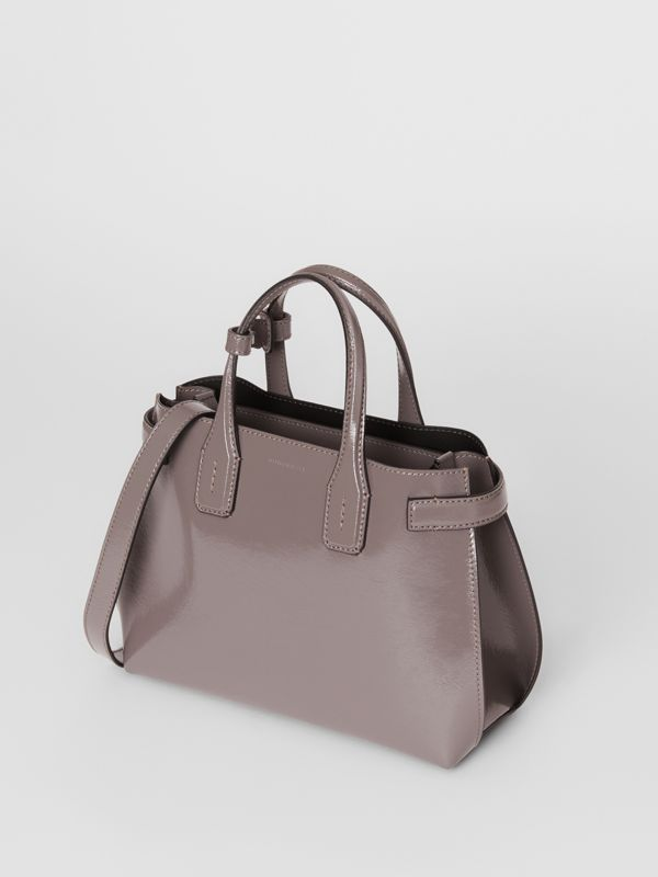 The Small Soft Leather Banner in Sepia Grey - Women | Burberry - cell image 2