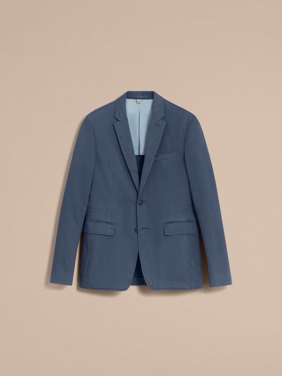 Slim Fit Stretch-cotton Blazer Navy - cell image 3