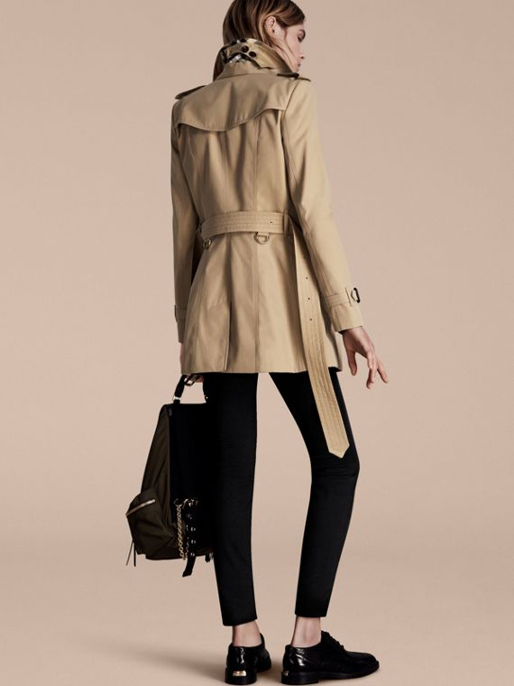 Honey The Chelsea – Short Heritage Trench Coat Honey - cell image 2