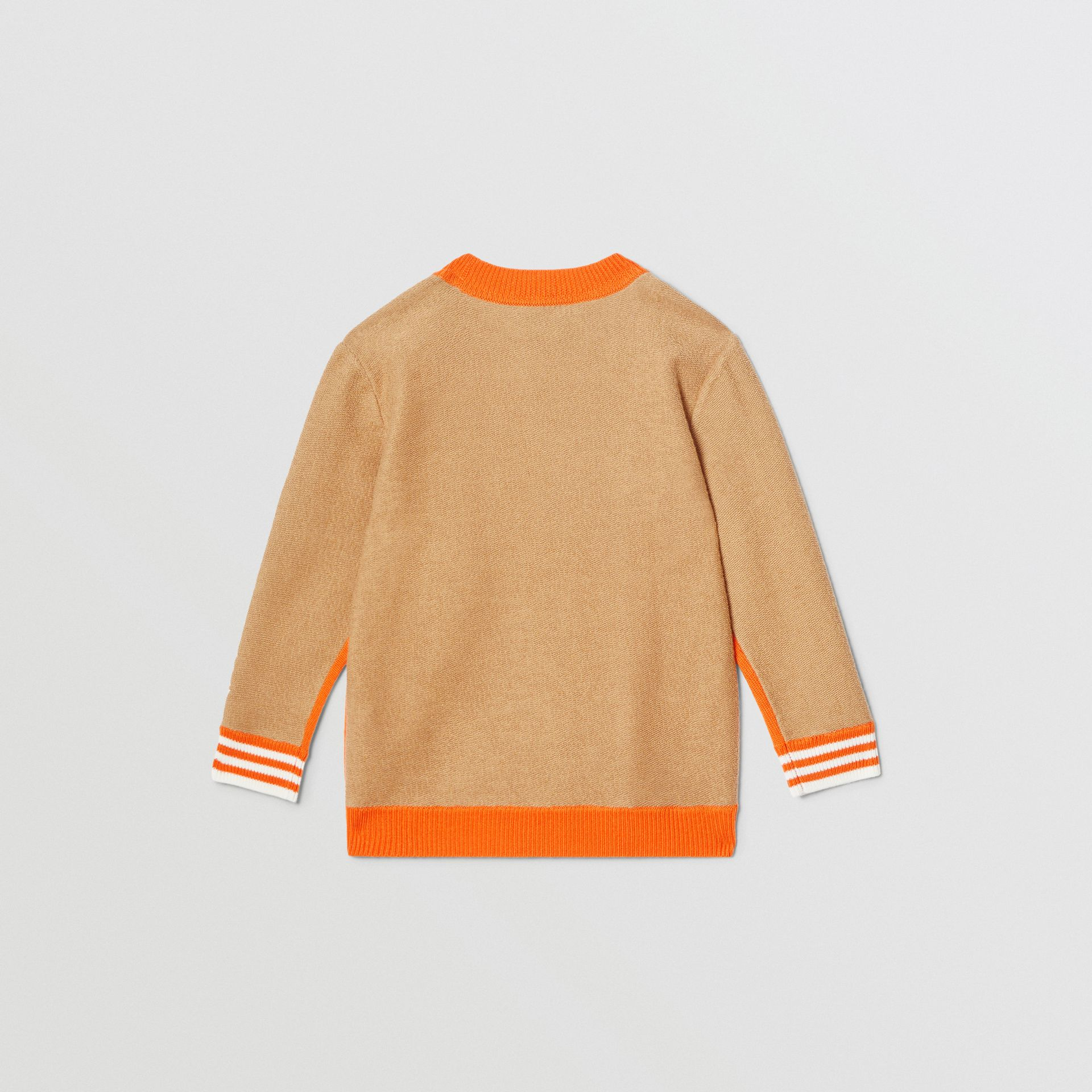 Bモチーフ メリノウール ジャカードセーター (ブライトオレンジ) | バーバリー - ギャラリーイメージ 4