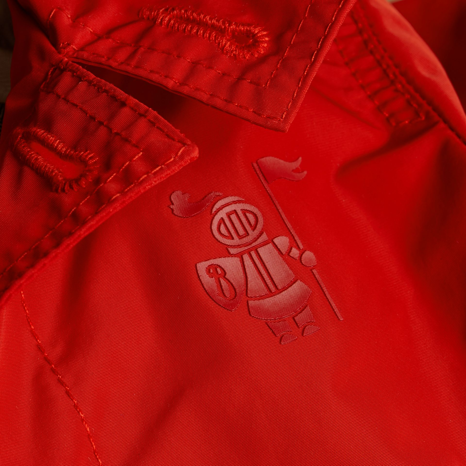 Military red Packaway Technical Parka Jacket - gallery image 2