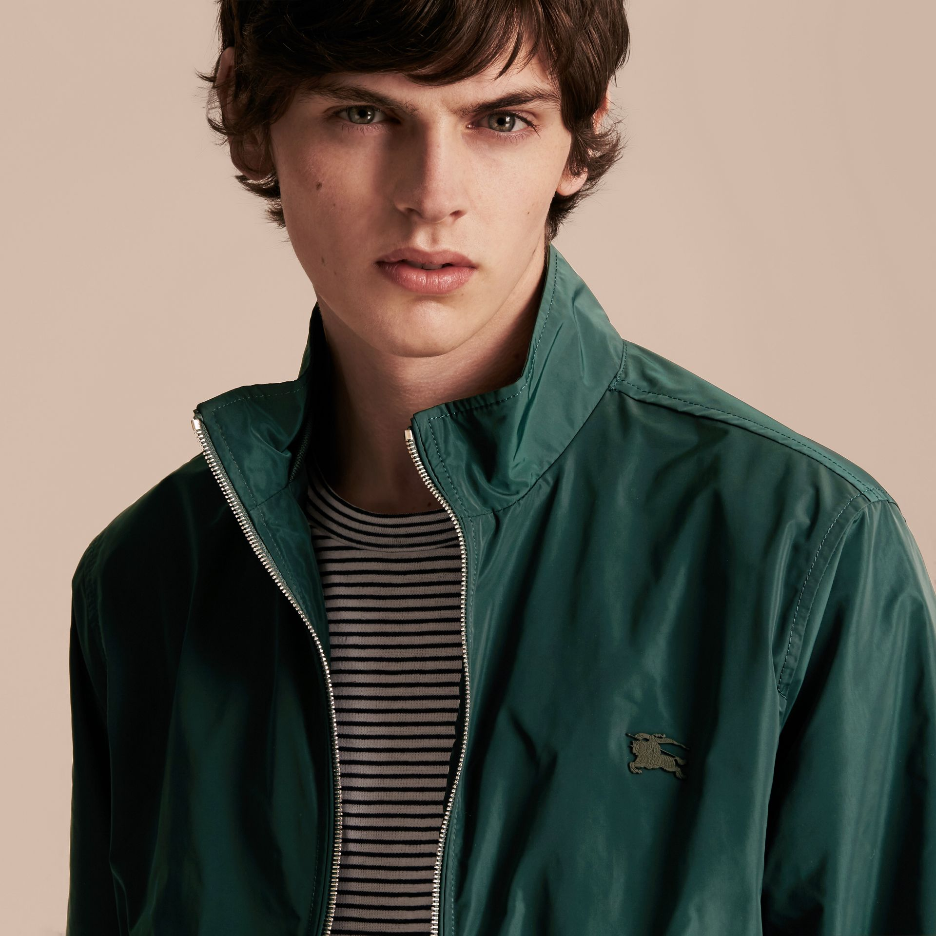 Lightweight Technical Jacket in Racing Green - Men | Burberry - gallery image 10