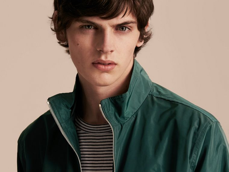 Lightweight Technical Jacket in Racing Green - Men | Burberry - cell image 4