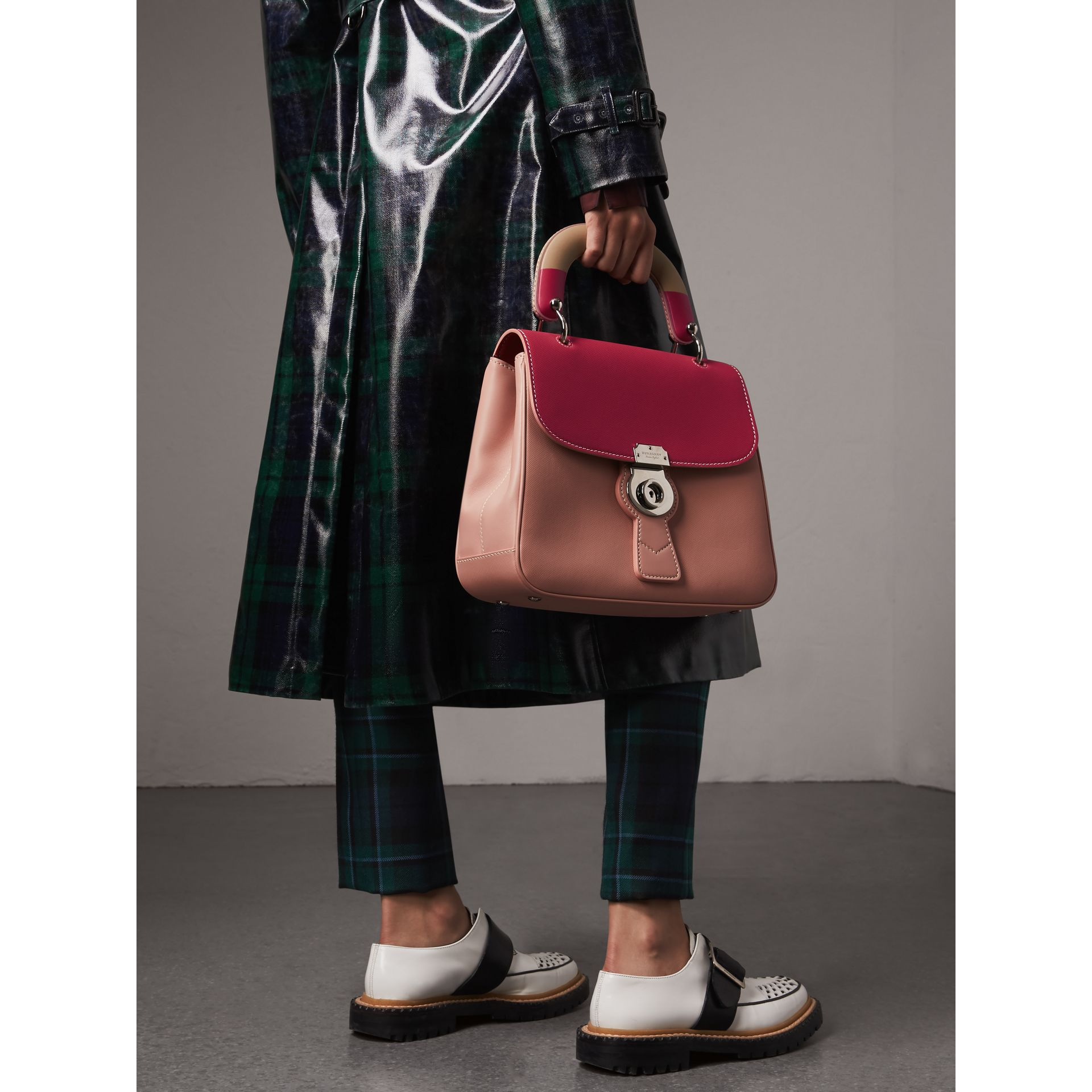 The Medium DK88 Top Handle Bag with Geometric Print in Ash Rose/russet - Women | Burberry United States - gallery image 3