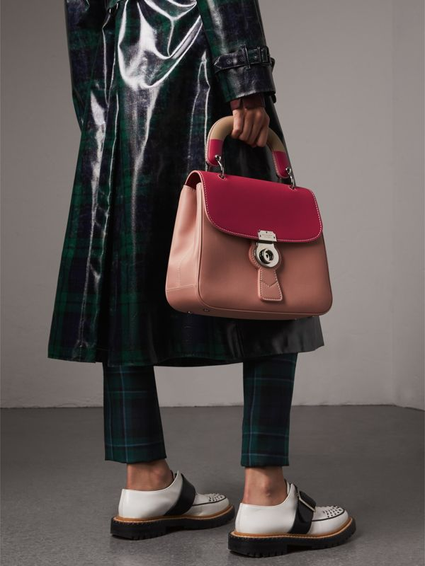 The Medium DK88 Top Handle Bag with Geometric Print in Ash Rose/russet - Women | Burberry - cell image 3