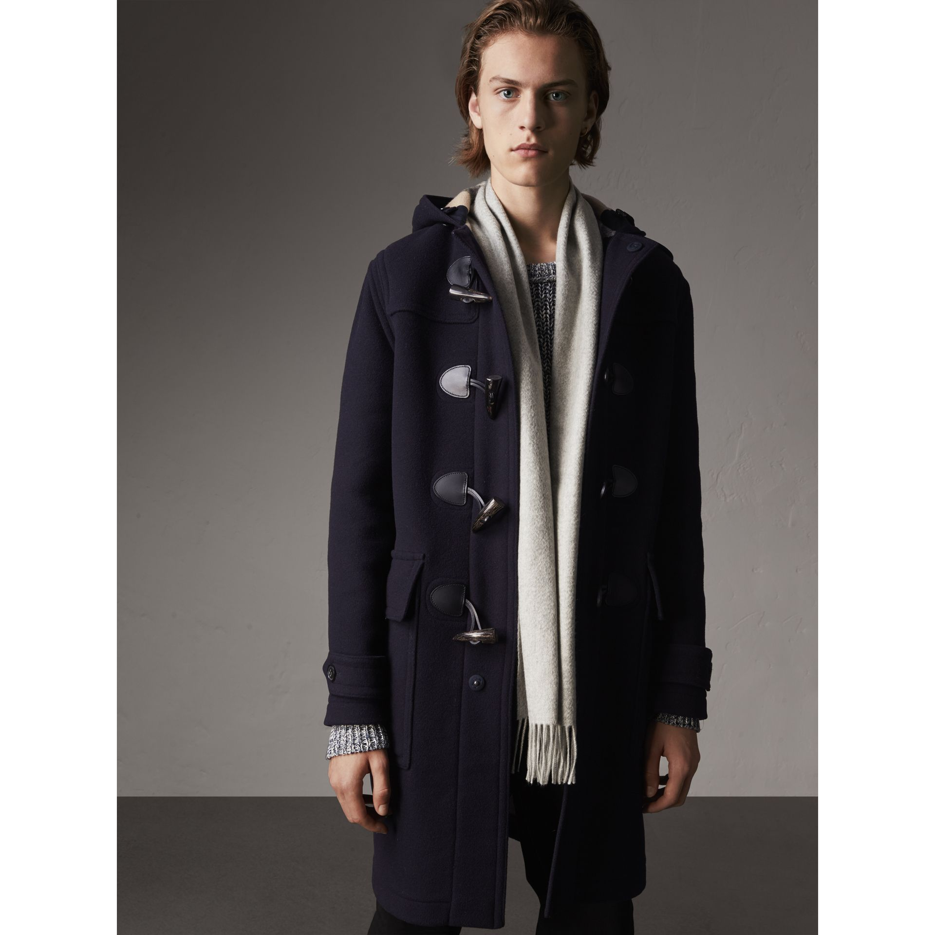 Wool-Blend Duffle Coat in Navy - Men | Burberry - gallery image 6