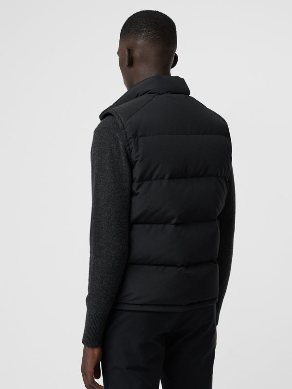 Embroidered Archive Logo Down-filled Gilet in Black - Men | Burberry United States - cell image 2