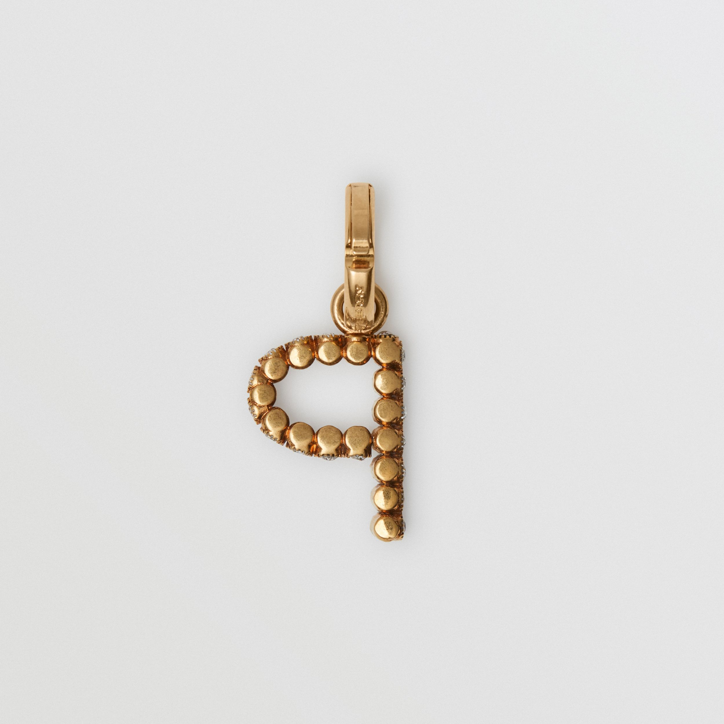 Crystal 'P' Alphabet Charm - Women | Burberry - 4