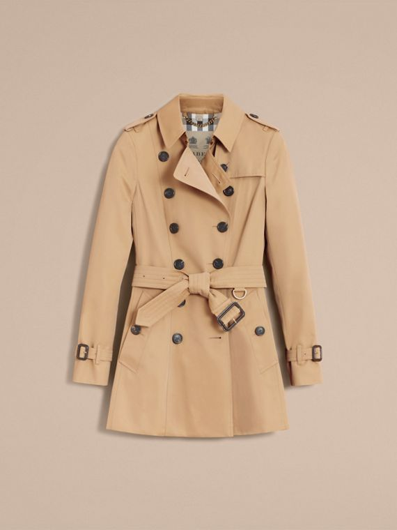 The Chelsea – Short Heritage Trench Coat in Honey - cell image 3