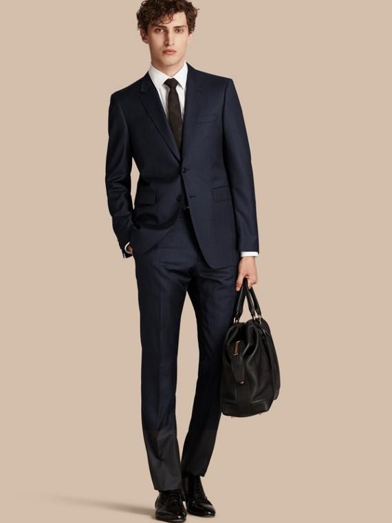 Modern geschnittener Part-Canvas-Anzug in Micro Check