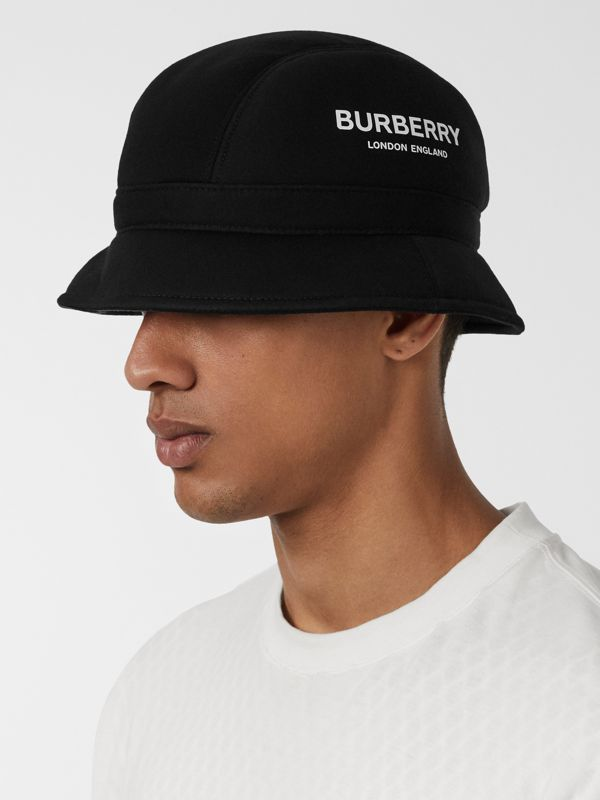 Kingdom Print Neoprene Bucket Hat in Black | Burberry - cell image 3