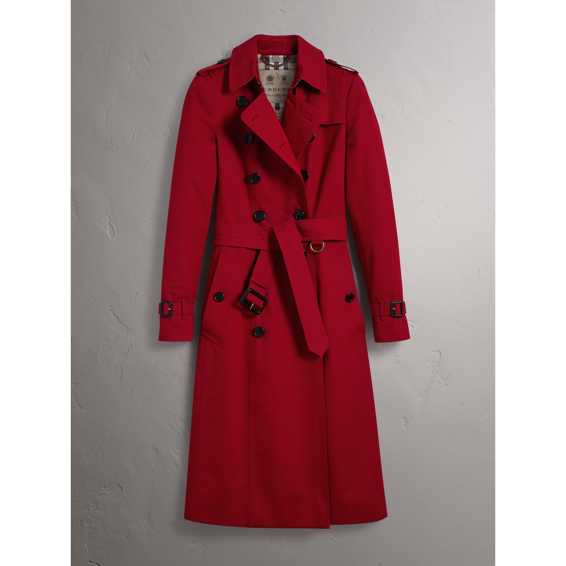 The Chelsea – Extra-long Trench Coat in Parade Red - Women | Burberry - gallery image 4