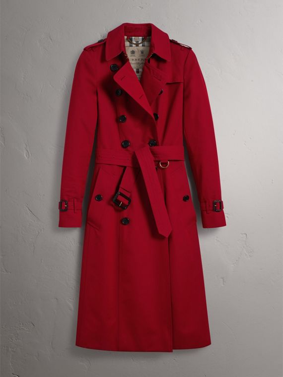 The Chelsea – Extra-long Trench Coat in Parade Red - Women | Burberry - cell image 3