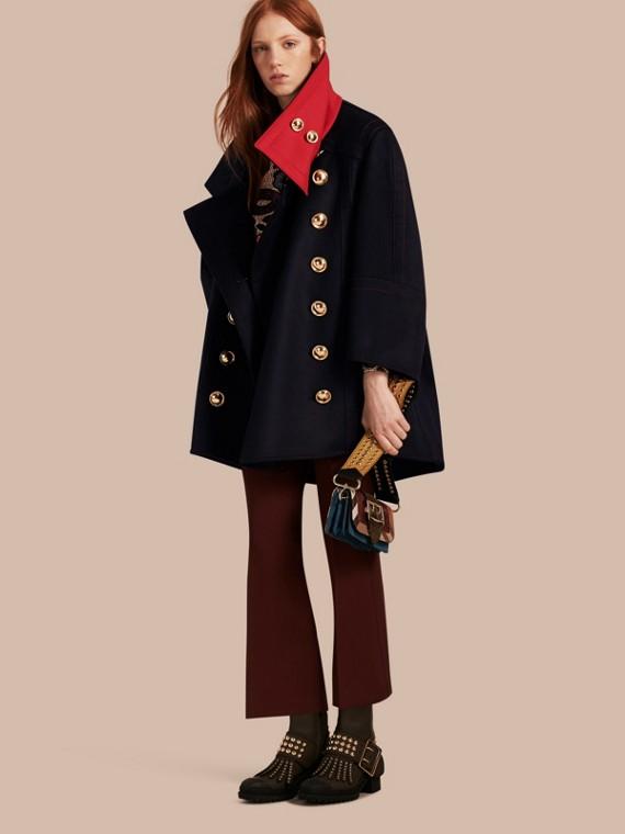 Manteau oversize en cachemire et laine