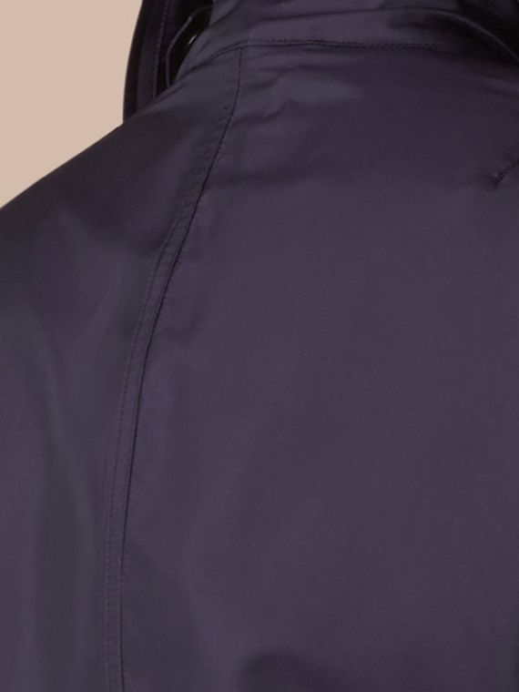 Ultramarine Silk Blend Field Jacket with Detachable Warmer - cell image 3