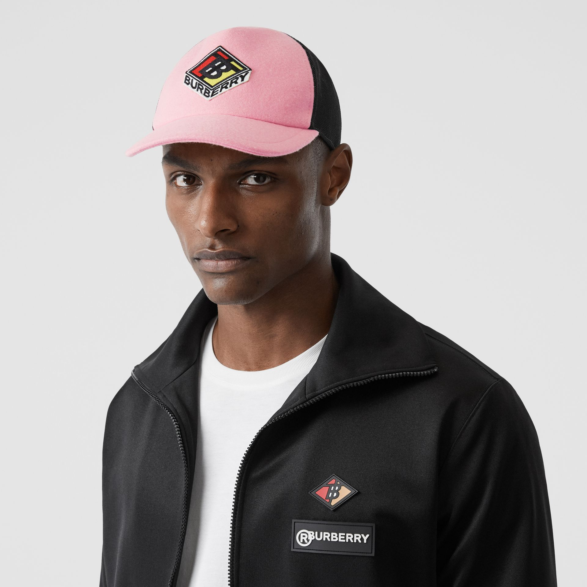Logo Graphic Baseball Cap in Pink | Burberry Singapore - gallery image 2