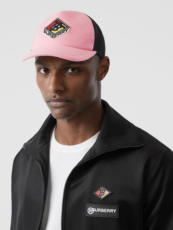 Logo Graphic Baseball Cap in Pink | Burberry Singapore - cell image 2