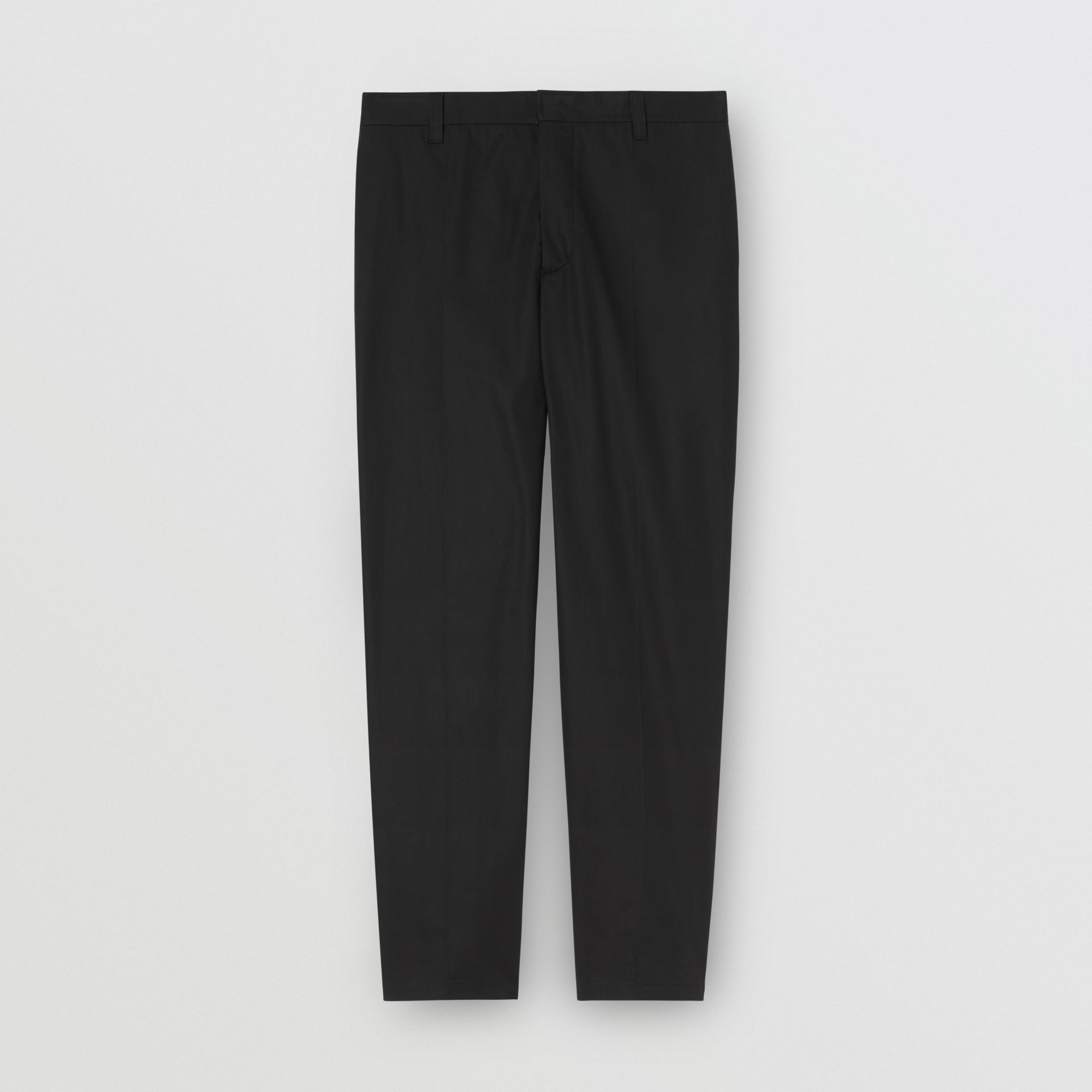 Pantalon en coton avec citation (Noir) | Burberry - photo de la galerie 3