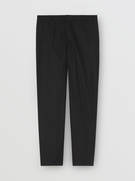 引言細節棉質長褲 (黑色)