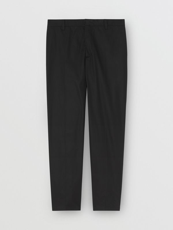 Quote Detail Cotton Trousers in Black | Burberry Hong Kong - cell image 3