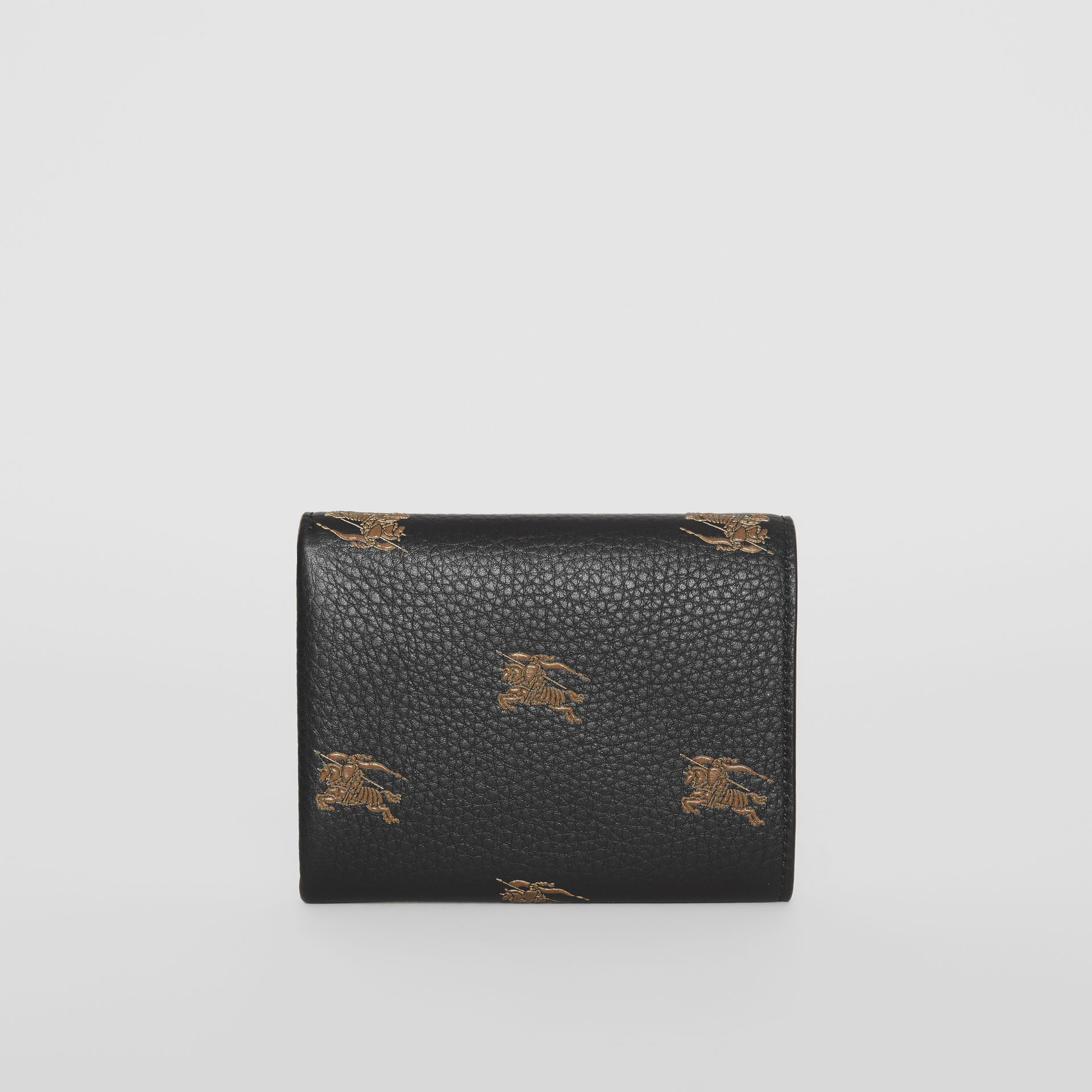 Small EKD Leather Wallet in Black - Women | Burberry - gallery image 5